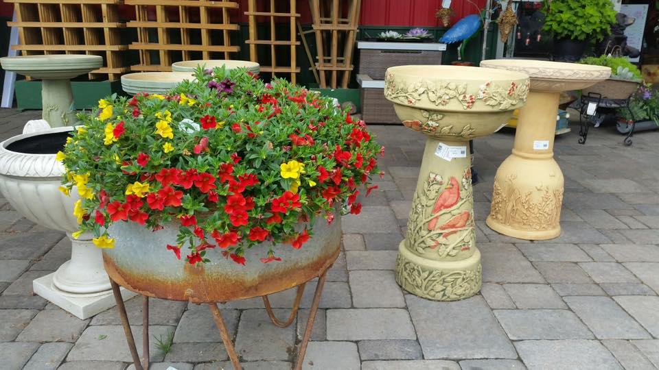 A+ Garden Center flowers and birdbaths